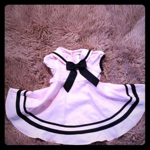 Rare Editions pink sailor inspired dress